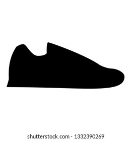 Running shoes Sneakers Sport shoes Run shoe icon black color vector illustration flat style simple image