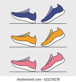 Running shoes. Sport. Fitness. Vector illustration