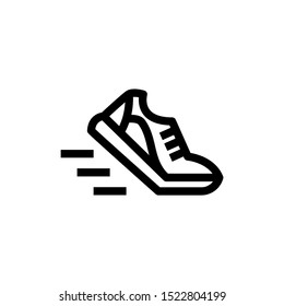 Running shoes vector icon, filled flat sign for mobile concept and web design, Sport shoe glyph icon, Symbol, logo illustration