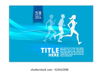 Running silhouette. Poster, Flyer, banner.abstract design