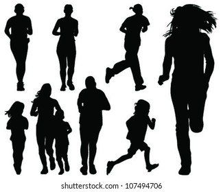 Running silhouettes 2-vector
