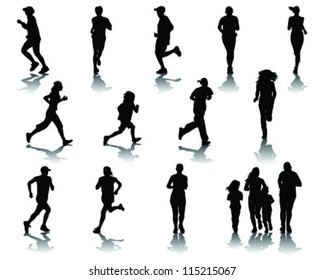 Running silhouettes 3-vector
