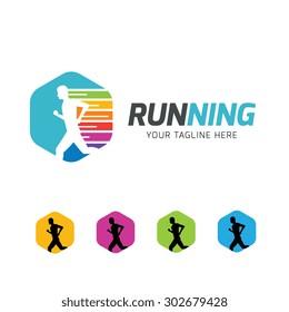 Running Sports Application Logo Template