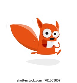 running squirrel clipart