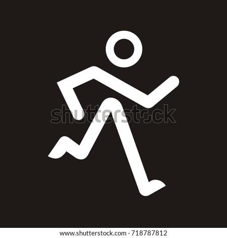 running stick figure logo design template stock vector royalty free