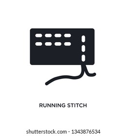 running stitch isolated icon. simple element illustration from sew concept icons. running stitch editable logo sign symbol design on white background. can be use for web and mobile