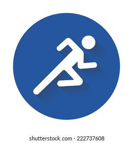 Running vector icon