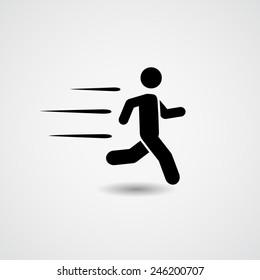 Running. Vector Illustration