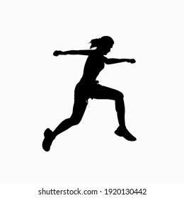 Running vector. Vector image. Vector illustration