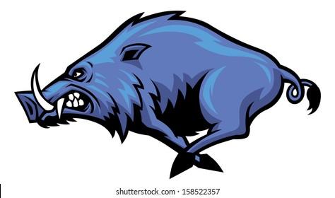 running wild hog mascot