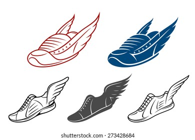 picture regarding Red Wing Shoe Printable Coupons called Winged Shoe Pics, Inventory Illustrations or photos Vectors Shutterstock