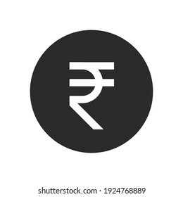 Rupee glyph icon. Simple solid style, rupee symbol. Bank, money cash business concept. Vector illustration isolated on white background. EPS 10.