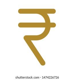 rupee symbol icon. flat illustration of rupee symbol vector icon. rupee symbol sign symbol