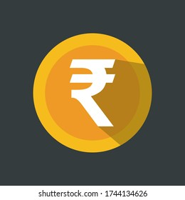 rupee symbol or sign icon, logo isolated symbol vector illustration. Currency sign - money symbol.
