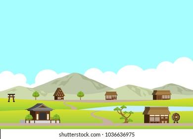 Rural landscape in Asia