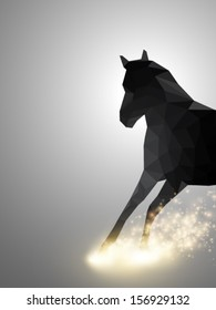rushing horse - vector illustration