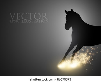 rushing thoroughbred - vector illustration