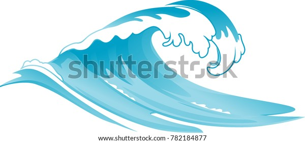 Rushing Wave Vector Illustration