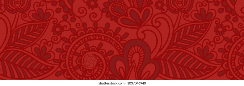 Russia 2018 world cup red wallpaper, 2018 trend background of Russian pattern vector illustration