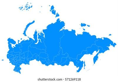 russia blue map