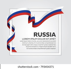 Russia flag background
