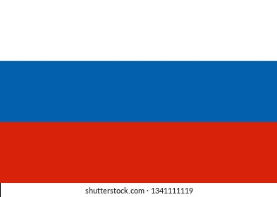 Russia flag in circle shape in national colors, vector. Russia flag, official colors and proportion correctly. National Russia flag. Flat