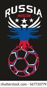 Russia Flag color graphic design vector art