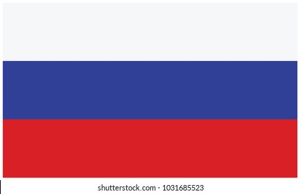Russia flag, official colors and proportion correctly
