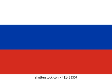 Russia flag, official colors and proportion correctly. National Russia flag. Flat vector illustration. EPS10.
