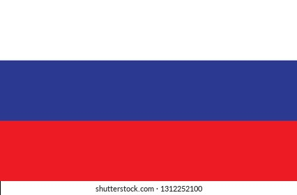 Russia flag. Simple vector  Russia flag