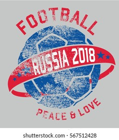Russia flag soccer ball graphic design vector art