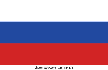 Russia flag vector icon, simple, flat design for web or mobile app