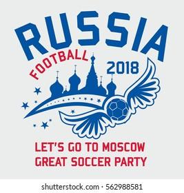 Russia graphic design vector art