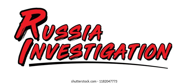 Russia Investigation Graphic for Media, Political Headline Illustration for News Outlets, Current Events Text, Global Politics and Foreign Relations Vector Symbol, Latest News Infographic
