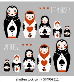 from russia with love matryoshka playing cards suits russian dolls