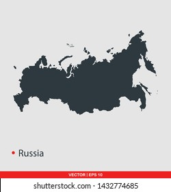 Russia map flat icon, vector illustration on gray background
