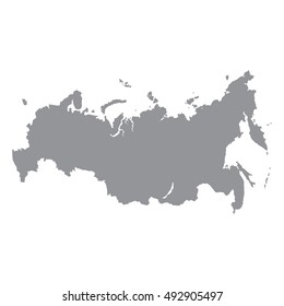 Russia map gray