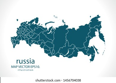 russia map High Detailed on white background. Abstract design vector illustration eps 10