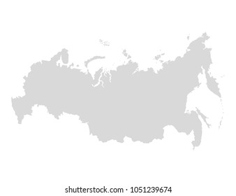 Russia map icon.