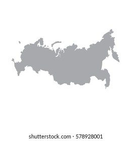 Russia map icon. Vector illustration. gray on a white background.