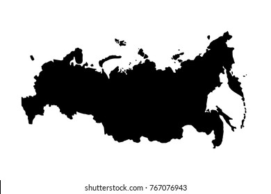 Russia map icon. Vector illustration.