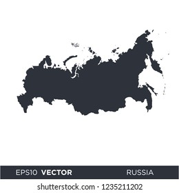russia map icon vector logo template