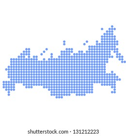 Russia map round