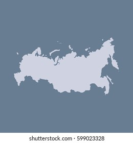 Russia Map Rounded Corners Flat Vector