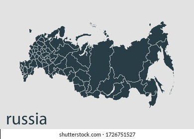 russia map vector, Abstract design vector illustration Eps 10. Navy color.High Detailed on white background.