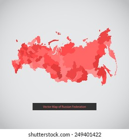 Russia map. Vector background illustration of Russian federation for ui, web games, tablets, wallpapers, and patterns.