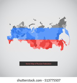Russia map. Vector background illustration of Russian federation. The vector illustration for ui, web games, tablets, wallpapers, and patterns.
