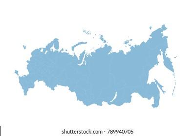 Russia Map Vector Regions