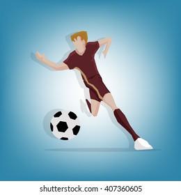 Russia Mascot football player