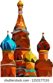 Russia Moscow St. Basil's Cathedral Low Poly